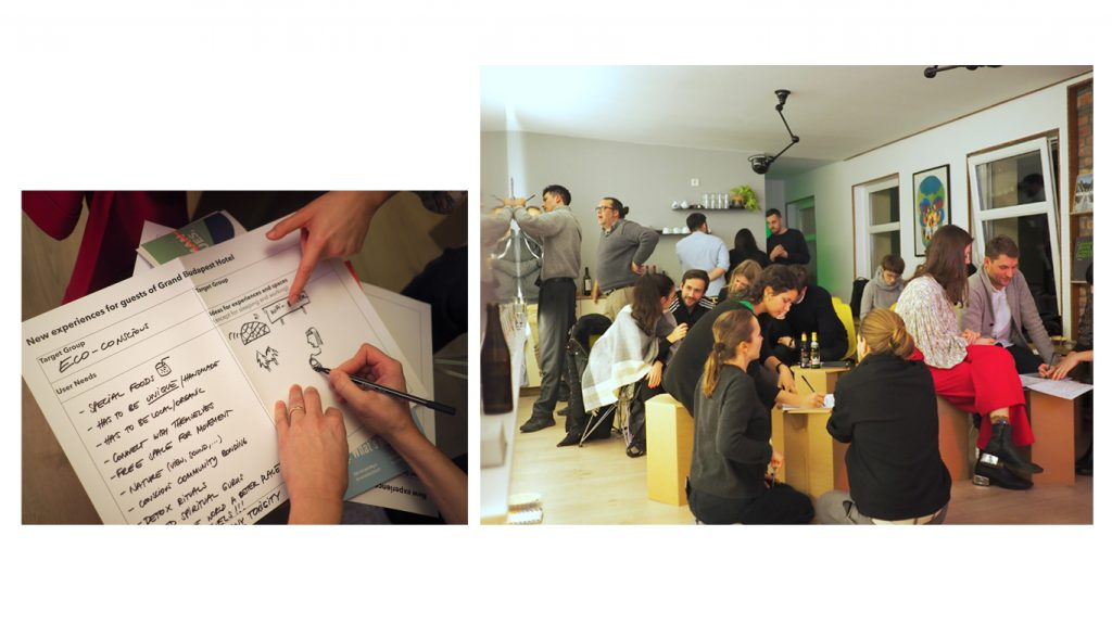 Participants engage in a practical exercise to design a Hospitality Experience
